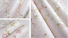 Grüne romantische Garten Blumentapete/warm Schlafzimmer Tapeten/Living Wall/Vliestapete-A