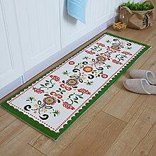 Grüne Türmatte/Küche-Fußmatten/Fußmatte/Vakuumöl Matten/Bar Fußmatten/Badezimmer Matte-N 50x80cm(20x31inch)