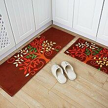 Grüne Türmatte/Küche-Fußmatten/Fußmatte/Vakuumöl Matten/Bar Fußmatten/Badezimmer Matte-H 45x120cm(18x47inch)