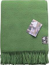 Grüne Wolldecke aus 100% neuseeländischer