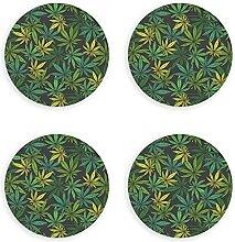 Grüner Cannabis Marihuana-Blatt Pflanze Unkraut