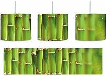 Grüner frischer Bambus inkl. Lampenfassung E27,