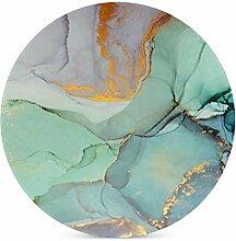 Grüner Marmor-Muster Granit-Untersetzer für