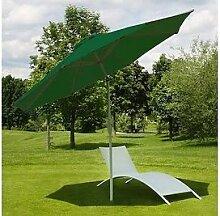 grüner Sonnenschirm 300cm Schirm Gartenschirm Garten Alu Sonnenschutz grün