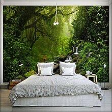 Grüner Wald 3D Wandbild Tapete für Schlafzimmer