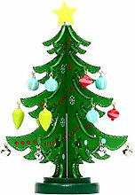Grüner Weihnachtsbaum aus Holz für Fenster,