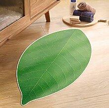 Grünes Blatt-Form-rutschfeste Kind-Fußauflage-Wohnzimmer-Bereichs-Wolldecken