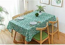 Grünes Geschirr Wasserdichte Tischdecke