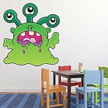 Grünes Monster Wandaufkleber Monster Wandtattoo Kinder Schlafzimmer Haus Dekor Erhältlich in 8 Größen Mittel Digital