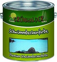 Grünwalder Schwimmbeckenfarbe premium Poolfarbe in Blau Weiß Grün ungiftige, wasserdichte Teichfarbe