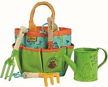 GRUFFALO Briers Garten Kinder 5 teiliges Set Werkzeugtasche Werkzeuge Gießkanne