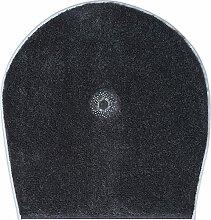 Grund Badteppich mit SWAROVSKI, 100% Polyacryl, ultra soft, rutschfest, ÖKO-TEХ-zertifiziert, 5 Jahre Garantie, CRYSTAL LIGHT, WC-Deckelbezug 47x50 cm, anthrazi