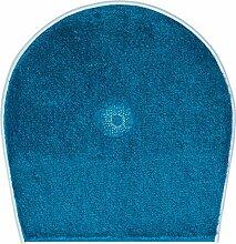 Grund Badteppich mit SWAROVSKI, 100% Polyacryl, ultra soft, rutschfest, ÖKO-TEХ-zertifiziert, 5 Jahre Garantie, CRYSTAL LIGHT, WC-Deckelbezug 47x50 cm, türkis