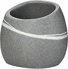 Grund z22190107 Stone Becher 9x7,5x8 cm Grau Accessoires, 100% Polyresin, 9 x 7,5 x 8 cm