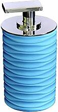 GRUND z22300515 colomba Seifenspender 7,5x7,5x14 cm Türkis Accessoires, 100% Polyresin/ABS, 7,5 x 7,5 x 14 cm