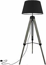 Grundig Tripod Stehlampe mit Textilschirm E27 40W