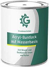 GRUNDMANN Acryllack - 10 kg Buntlack Hellgrau -