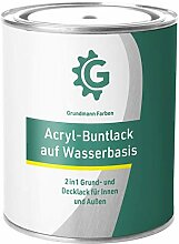 GRUNDMANN Acryllack - 3 kg Buntlack Türkis - Halb