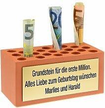 Grundstein für die erste Million - Weihnachtsgeschenk, Geburtstagsgeschenk, Hochzeitsgeschenk, Geschenkidee, Geschenk
