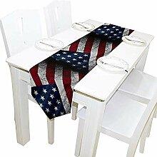 Grunge America Flag Tischläufer, Tischdecke