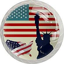 Grunge Usa Flagge Freiheitsstatue Retro