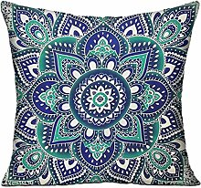GRUNVGT Cushion Cover Pillow Cover Blue Flowers
