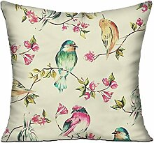 GRUNVGT Cushion Cover Pillow Cover Colorful Birds