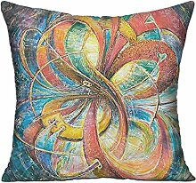 GRUNVGT Cushion Cover Pillow Cover Colorful Flower