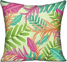 GRUNVGT Cushion Cover Pillow Cover Colorful Leaves