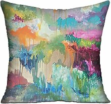 GRUNVGT Cushion Cover Pillow Cover Colorful World