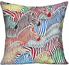 GRUNVGT Cushion Cover Pillow Cover Colorful Zebras
