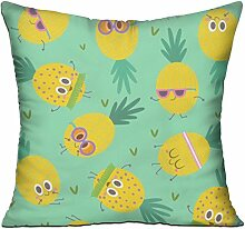 GRUNVGT Cushion Cover Pillow Cover Cute Pineapples