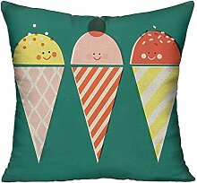 GRUNVGT Cushion Cover Pillow Cover Cute Sweet Ice