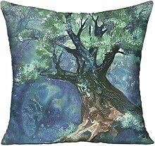 GRUNVGT Cushion Cover Pillow Cover Fairy Tree