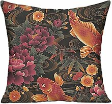 GRUNVGT Cushion Cover Pillow Cover Fishes
