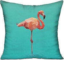 GRUNVGT Cushion Cover Pillow Cover Flamingo Art