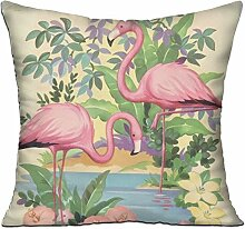 GRUNVGT Cushion Cover Pillow Cover Flamingos
