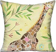 GRUNVGT Cushion Cover Pillow Cover Giraffe Art