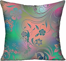 GRUNVGT Cushion Cover Pillow Cover Glitter Flowers