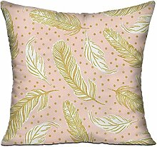 GRUNVGT Cushion Cover Pillow Cover Gold Leaves