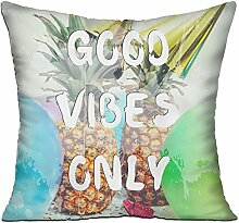 GRUNVGT Cushion Cover Pillow Cover Good Vibes Only