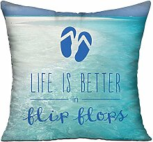 GRUNVGT Cushion Cover Pillow Cover Life is Better
