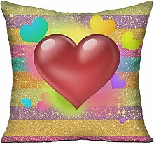 GRUNVGT Cushion Cover Pillow Cover Love Heart