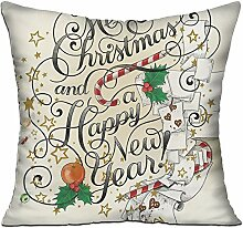 GRUNVGT Cushion Cover Pillow Cover Merry Christmas