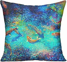 GRUNVGT Cushion Cover Pillow Cover Oil Painting