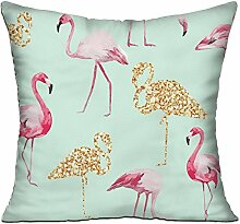GRUNVGT Cushion Cover Pillow Cover Pink and Gold