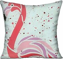 GRUNVGT Cushion Cover Pillow Cover Pink Flamingo