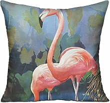 GRUNVGT Cushion Cover Pillow Cover Pink Flamingos