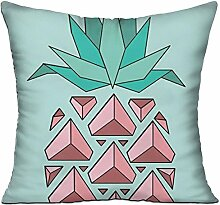 GRUNVGT Cushion Cover Pillow Cover Pink Pineapple