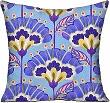 GRUNVGT Cushion Cover Pillow Cover Purple Flowers